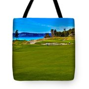 #2 At Chambers Bay Golf Course - Location Of The 2015 U.s. Open Championship Tote Bag by David Patterson