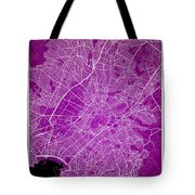 Athens Street Map - Athens Greece Road Map Art On Color Tote Bag