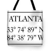 Atlanta Coordinates Tote Bag