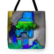 Atlanta Map And Skyline Watercolor Tote Bag