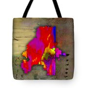 Atlanta Map Watercolor Tote Bag