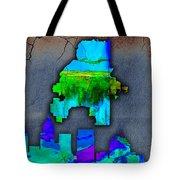 Atlanta Skyline Watercolor Tote Bag