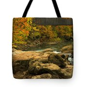 Autumn At Bulls Bridge Tote Bag