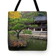Autumn Color At Namsangol Folk Village Tote Bag