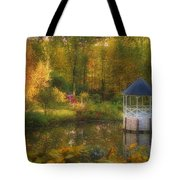 Autumn Gazebo Tote Bag by Joann Vitali