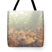 Autumn Leaves Floating In The Fog Tote Bag