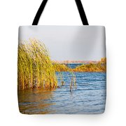 Autumn On The Dnieper River Tote Bag