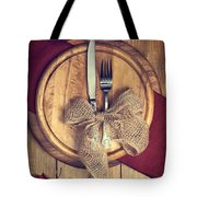 Autumn Table Setting Tote Bag