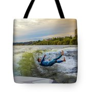 Autumn Wake Surfing Tote Bag