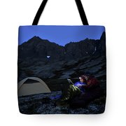 Backpacking Alaska Chugach Mountains Tote Bag