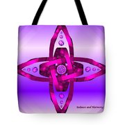 Balance And Harmony - Purple Tote Bag