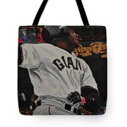 Barry Bonds World Record Breaking Home Run Tote Bag