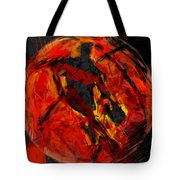 Basketball Abstract Tote Bag