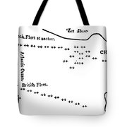 Battle Of Virginia Capes Tote Bag