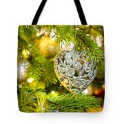 Bauble In A Christmas Tree  Tote Bag