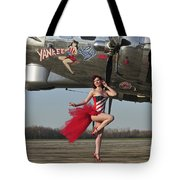 Beautiful 1940s Style Pin-up Girl Tote Bag