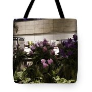Beautiful Flowers Inside The Changi Airport In Singapore Tote Bag