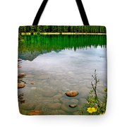 Beauvert Lake In Jasper National Park-alberta-canada Tote Bag