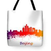 Beijing China Skyline  Tote Bag