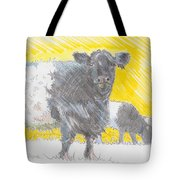 Belted Galloway Cows Tote Bag