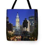 Ben Franklin Parkway And City Hall Tote Bag