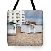 Bexhill Beach Huts Tote Bag