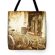 Bikes And A Window Tote Bag