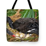 Black Swan At Nest Tote Bag