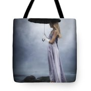 Black Umbrella Tote Bag
