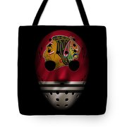 Blackhawks Jersey Mask Tote Bag