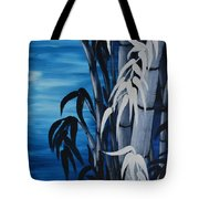 Blue Bamboo Tote Bag by Holly Donohoe