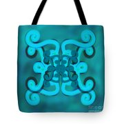 Blue Double Scroll Tote Bag