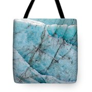 Blue Glacier Ice Background Texture Pattern Tote Bag