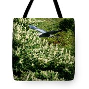 Blue Heron Flight  Tote Bag