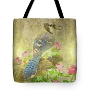 Blue Jay With Texture Tote Bag