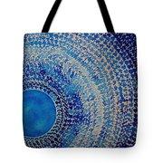 Blue Kachina Original Painting Tote Bag by Sol Luckman