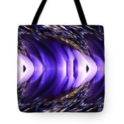 Blue Poppy Fish Abstract Tote Bag