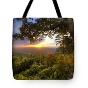Blue Ridge Mountain Sunset Tote Bag