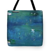 2 Boats In The Lily Pond Tote Bag