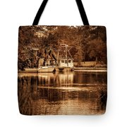 2 Boats On The Bon Secour Sepia Tote Bag