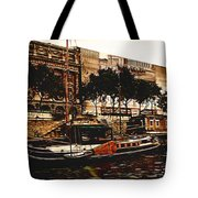 Boats On The Seine Tote Bag