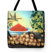 Bond's Still Life Of Bird And Dwarf Pear Tree Tote Bag