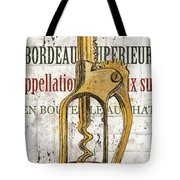 Bordeaux Blanc 2 Tote Bag