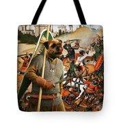 Border Terrier Art Canvas Print  Tote Bag