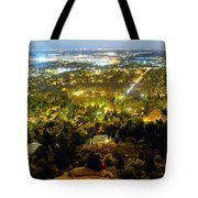 Boulder Colorado City Lights Panorama Tote Bag