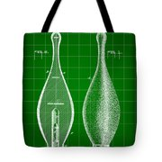 Bowling Pin Patent 1895 - Green Tote Bag