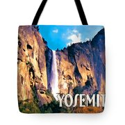 Bridal Veil Falls Yosemite National Park Tote Bag