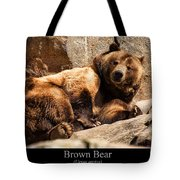 Brown Bear Tote Bag by Chris Flees