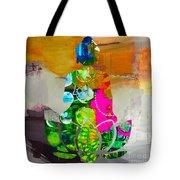 Buddah On A Lotus Tote Bag