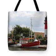 Buesum Lighthouse - North Sea - Germany Tote Bag